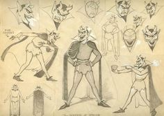 Model Sheets from The Goddess of Spring