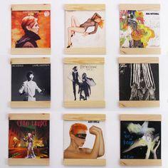 Record Holders turn your vinyl into art door BlisscraftandBrazen