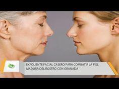 Exfoliante Facial Casero Para Combatir La Piel Madura Del Rostro - YouTube