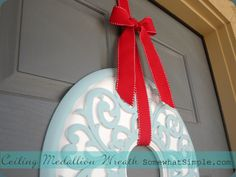 ceiling medallion wreath 4