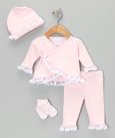 Take a look at this Too Sweet Pink Wrap Top Set - Infant on zulily today!