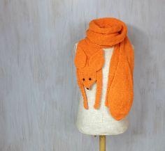Fennec fox handmade soft scarf knit knitted wrap very by Florfanka