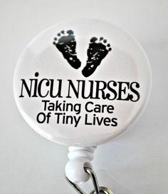 NICU Nurse Badge Reel ID Holder by badgereels