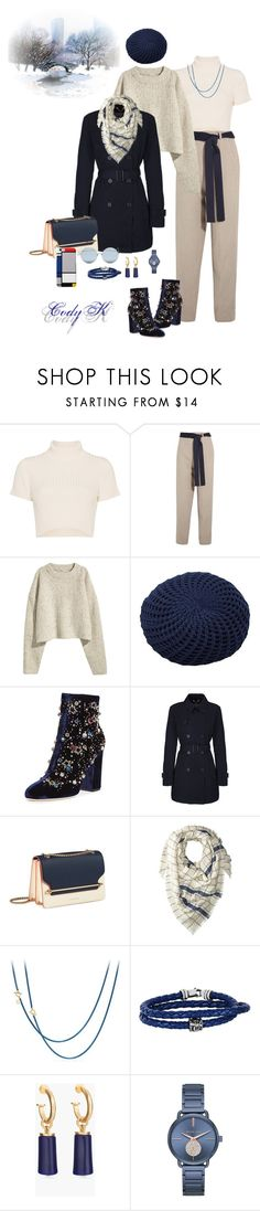 """Navy & Beige"" by cody-k ❤ liked on Polyvore featuring Staud, Victoria Beckham, H&M, ESPRIT, GEDEBE, Geox, Hat Attack, David Yurman, Phillip Gavriel and Chico's"