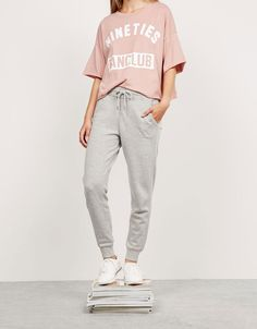 Colour jogger trousers. Discover this and many more items in Bershka with new…