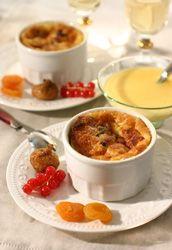 Pudding au miel et  fruits secs