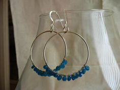 Wearing these today with my Ray-Ban New Wayfarer sunglasses!    W A Y F A R E R  Sterling Silver Hoop Earrings with by MandyLemig, $38.00