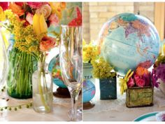 Maps and exciting destinations: Wedding decor inspired in the magic of travel and adventure