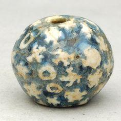 古代とんぼ玉・モザイク貼付玉, Ancient dragonfly mosaic bead.