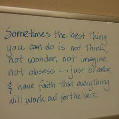 Good advice (: