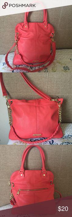 Selling this Steve Madden Coral Tote on Poshmark! My username is: sandra_filipa. #shopmycloset #poshmark #fashion #shopping #style #forsale #Steve Madden #Handbags