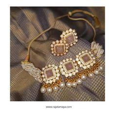 Beaded Jewellery, Bridal Jewellery, Pearl Jewelry, Wedding Jewelry, Jewelery, Rose Gold Choker, Pearl Choker, Pearl Necklace, Gold Earrings Designs