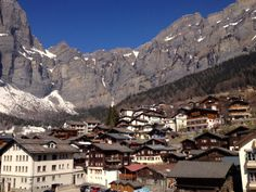View across the old part of #Leukerbad