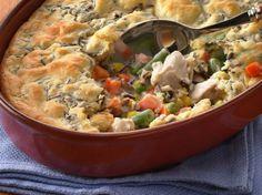 Wild Rice-Turkey Pot Pie  Gluten Free with GF Bisquick and Progresso mushroom soup