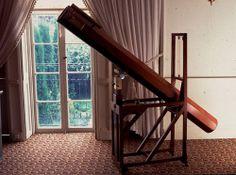 "Replica of the telescope William Herschel was using when he discovered the planet Uranus on March 13, 1781. ©Mona Evans, ""Herschel Museum of Astronomy"" http://www.bellaonline.com/articles/art48626.asp"