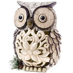 Owl Figure with LED Candle http://shop.crackerbarrel.com/Owl-Figure-with-LED-Candle/dp/B00NCA6GZ8
