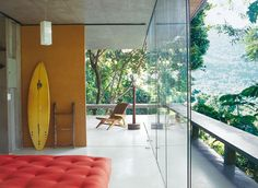 surfboard AND tufted ottoman!
