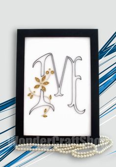 monogram M hanging monogram wall hanging by WonderCraftShop