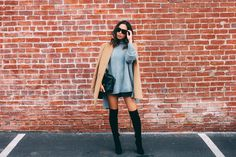 Camel Coat and Suede Thigh High Boots (via Bloglovin.com )