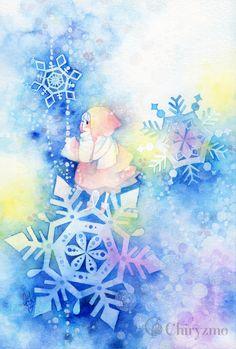 Winter snowflakes