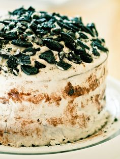beautiful vegan: Happy Birthday James!! Decadent, Triple-Decker, Vanilla and Chocolate Vegan Oreo Cake!