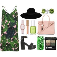 A fashion look from May 2016 by airladysory featuring Topshop, WithChic, Yves Saint Laurent, Emporio Armani, Bling Jewelry, Maison Michel, Casetify, Gucci, Eliz...