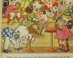 Vintage Ruth Newton Childrens Nurse ry Rhyme Book Print-Puppies Ice ...