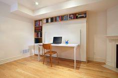 table murale rabattable et lit escamotable pour éconimiser de l'espace
