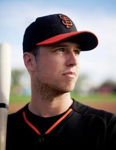 Description of . Catcher Buster Posey poses for a photo as the San Francisco Giants hold spring training at Scottsdale Stadium in Scottsdale, Ariz. (Patrick Tehan/Bay Area News Group) My Giants, Giants Baseball, Sf Niners, Giants Players, Go Busters, Dodgers Fan, Popular Sports, Buster Posey, G Man