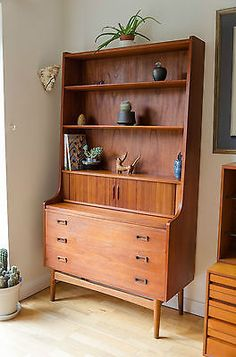 Vintage danish teak borge #mogensen bureau #bookcase desk mid century #heals 1960,  View more on the LINK: 	http://www.zeppy.io/product/gb/2/222087092736/