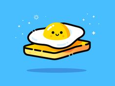 Egg designed by MBE. Connect with them on Dribbble; the global community for designers and creative professionals. Icon Design, Design Ios, Logo Design, Flat Design, Flat Illustration, Food Illustrations, Digital Illustration, Design Thinking, L Icon
