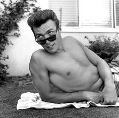 Clint Eastwood 1956, horn-rimmed sunglasses