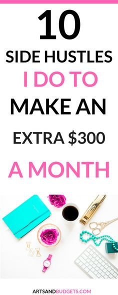 Looking for ways to make extra money? If so, check out this post filled with different ways I make extra money each month.- side hustle, side hustles, make extra money, ways to make extra money, work from home, Looking for ways to increase your monthly income?!  -- work from home, side hustles, ways to make extra money, how to make extra money, work from home jobs, make money blogging, how to make money blogging