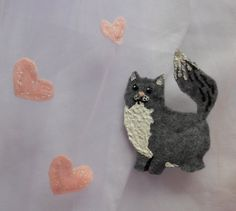 Hearts and cat wedding veil!