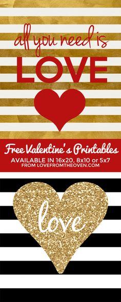 Free Valentine's Day Printables #valentine #printable #free
