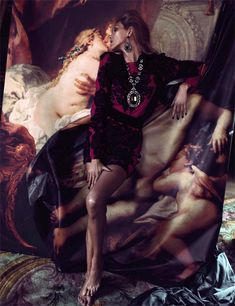 Photographer Camilla Akrans, model Anja Rubik and stylist Franck Benhamou simply outdo themselves with this extravagant, sensually voluptuous editorial 'Hors Cadre' for Numéro #137, October issue.
