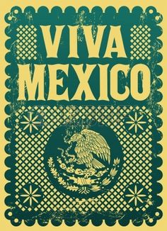 Vintage Viva Mexico - Mexican Holiday Vector Poster - Grunge.. Royalty Free Cliparts, Vectors, And Stock Illustration. Image 22120426.