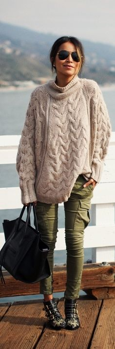 I do love chunky knit. Street Fashion By Sincerely Jules