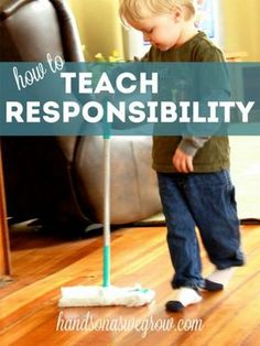 How to teach responsibility: A wonderful new way to teach the munchkins self-esteem and family team work. We love this site and can't recommend her insightful articles enough. Learn a little more at handsonaswegrow.com
