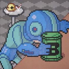 Mega Man after finding out that Bad Box Art Mega Man was selected over him for Street Fighter x Tekken