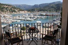 View from the balcony at Casita Sal de Mar, Port de Soller, Mallorca. www.sollersecrets.com