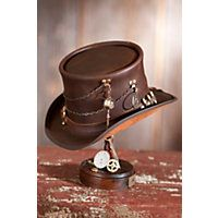 Steamy Collection of Steampunk Hats for Sale  Steampunk Trinket Leather Top  Hat with Ammo Hatband d7090337df3d