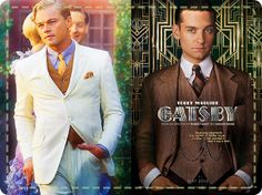 Leonardo DiCaprio and Tobey Maguire's slick hair in The Great Gatsby- 1920s hairstyles