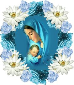 Good night sister and all, have a peaceful night♥★♥. Jesus And Mary Pictures, Mary And Jesus, Angel Pictures, Blessed Mother Mary, Blessed Virgin Mary, St Therese Prayer, Beautiful Morning Pictures, Fatima Prayer, Good Night Sister