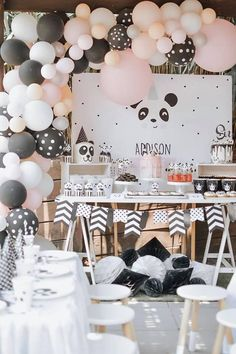 Panda Themed Party, Panda Birthday Party, Polka Dot Birthday, Panda Party, Bear Party, Bear Birthday, Birthday Celebration, Festival Celebration, Holiday Festival