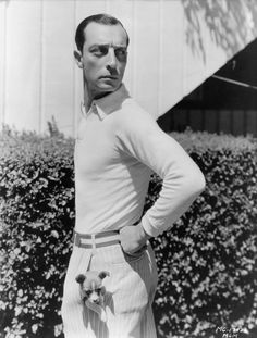 Every time he hung out with a dog. | 25 Times Buster Keaton Proved They Don't Make 'Em Like They Used To