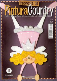 Pintura sobre madera paso a paso Country Paintings, Crochet Magazine, Country Crafts, Book Quilt, Toy Boxes, Cute Cards, Crochet Cross, Photo Cards, Decoupage