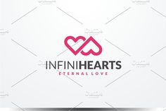 Infinity Hearts Logo by yopie on @creativemarket