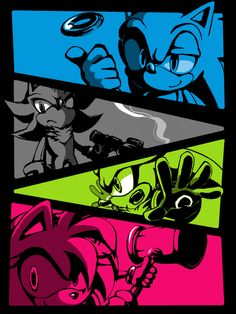 Sonic, Shadow, Silver and Amy