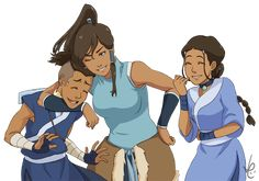 A:tla and LoK: Water tribe united by LiLacinusPlus.deviantart.com